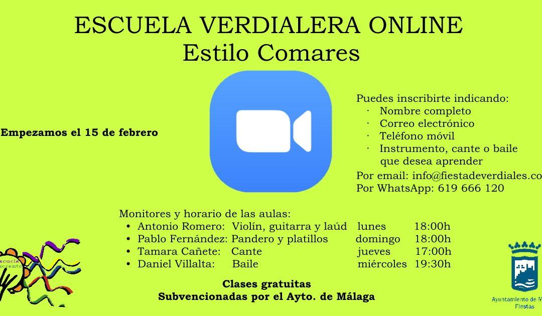"""PROYECTO """"ESCUELA VERDIALERA ONLINE """"ESTILO COMARES"""