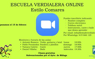 PROYECTO «ESCUELA VERDIALERA ONLINE «ESTILO COMARES