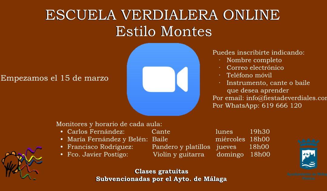 """PROYECTO """"ESCUELA VERDIALERA ONLINE"""" ESTILO MONTES"""
